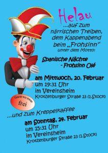 Kreppelkaffee @ Vereinsheim Frohsinn